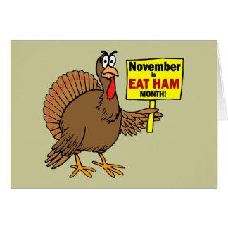 Cartes Dinde drôle de thanksgiving