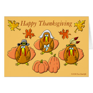 Cartes Dindes de bon thanksgiving