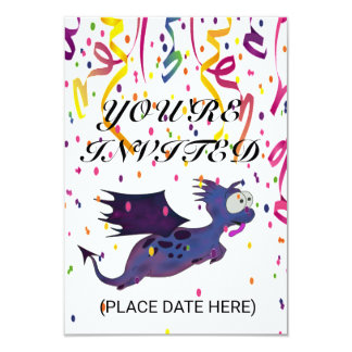 CARTES D'INVITATION DE LA PERSONNALISER YUPI DINO CARTON D'INVITATION 8,89 CM X 12,70 CM