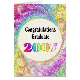Cartes Diplômé 2007 de félicitations