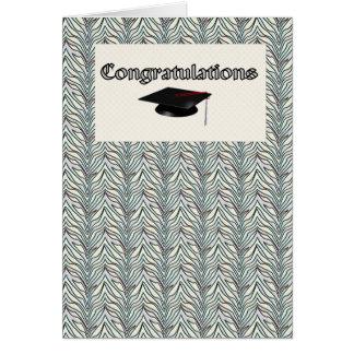 Cartes Diplômé de félicitation