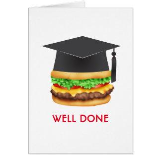 Cartes Diplômé de félicitations d'hamburger fait par bien