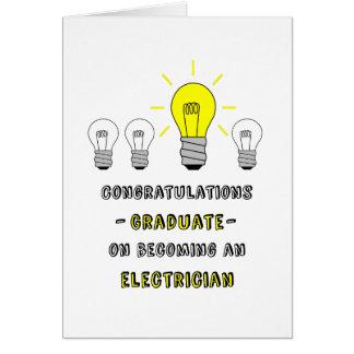 Cartes Diplômé-Électricien-vous êtes une ampoule