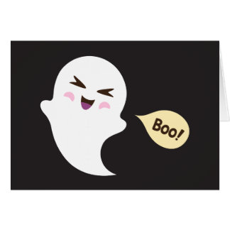 Cartes Dire mignon de fantôme de bande dessinée de kawaii