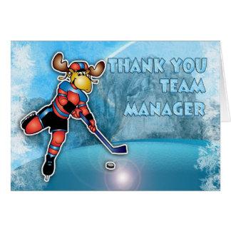 Cartes Directeur d'équipe de hockey de glace de Merci