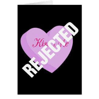 Cartes Dites les Valentines heureux avec le rejet et la