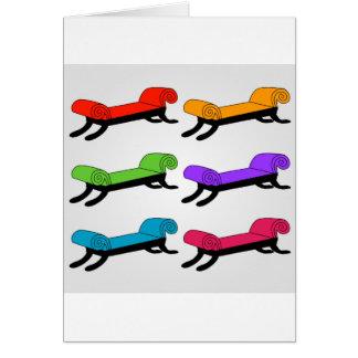Cartes Divans colorés