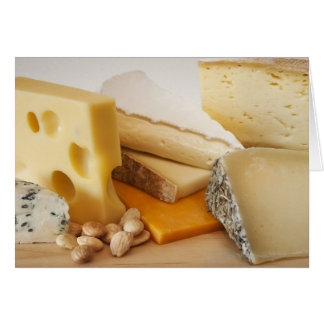 Cartes Divers fromages sur le hachoir