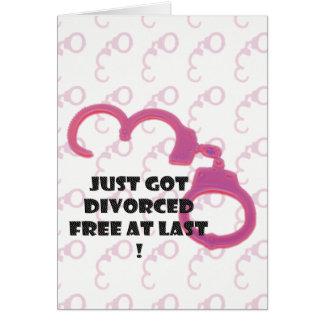 Cartes Divorce drôle libre enfin