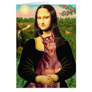 Cartes Dobermann (rouge) - Mona Lisa