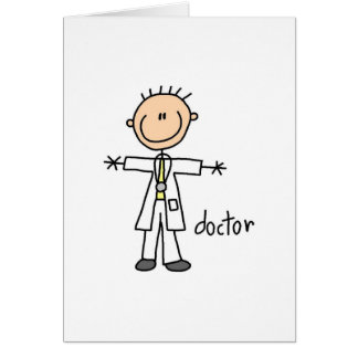 Cartes Docteur Stick Figure Card