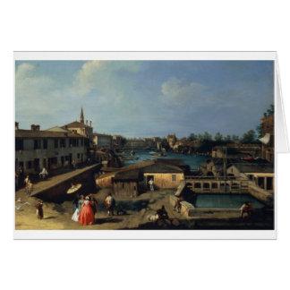 Cartes Dolo sur le Brenta (huile sur la toile)