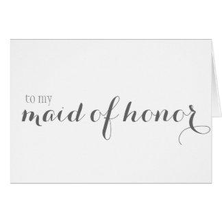 Cartes Domestique de Merci d'honneur