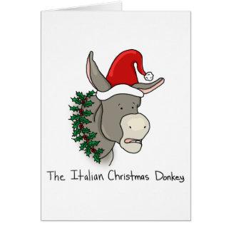 Cartes Dominick l'âne italien de Noël