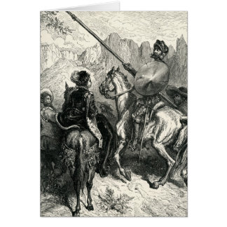 Cartes Don don Quichotte et dame