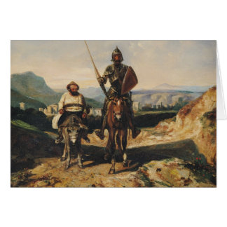 Cartes Don don Quichotte et Sancho