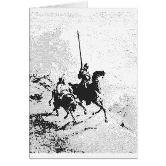 Cartes Don don Quichotte et Sancho Panza
