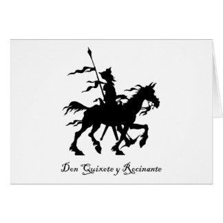 Cartes Don don Quichotte monte encore