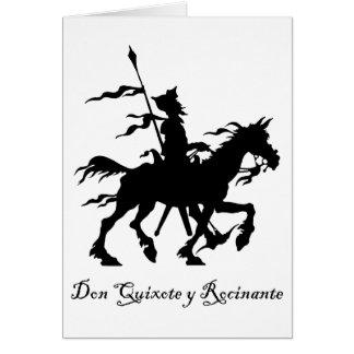 Cartes Don don Quichotte y Rocinante