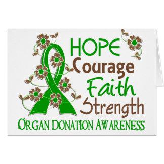 Cartes Donation d'organe de la force 3 de foi de courage