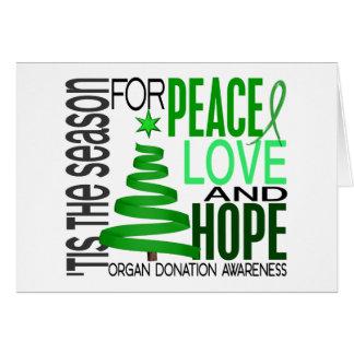 Cartes Donation d'organe de vacances de Noël d'espoir