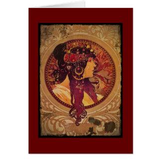 Cartes Donna Orechini avec les cheveux rouges