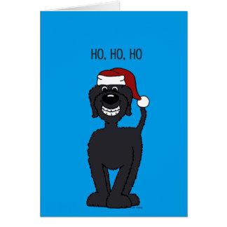 Cartes Doodle Santa noir