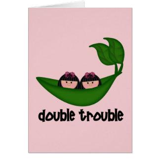 Cartes Double problème Peapod de filles jumelles