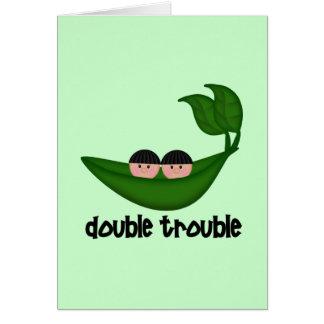Cartes Double problème Peapod de garçons jumeaux