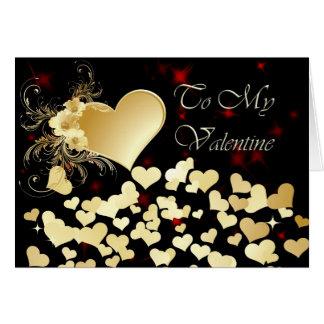 Cartes Douche de Saint-Valentin des coeurs