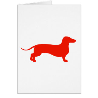 Cartes Doxie rouge