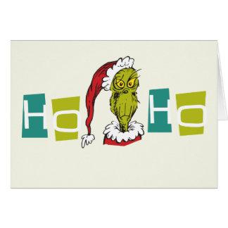 Cartes Dr. Seuss | le Grinch - Ho Ho Ho
