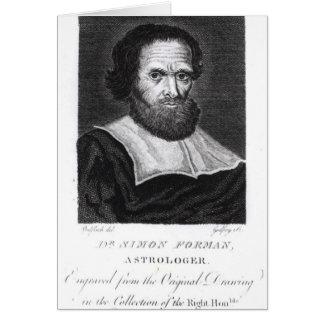 Cartes Dr. Simon Forman de portrait gravée par Godfrey