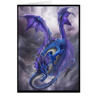 Cartes Dragon bleu de tempête