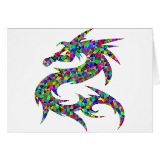 Cartes dragon coloré
