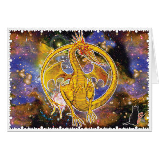 Cartes Dragon cosmique de topaze