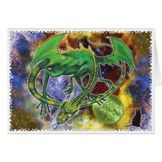 Cartes Dragon cosmique vert