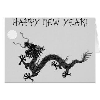 Cartes Dragon d'hiver de bonne année
