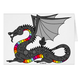 Cartes Dragon fâché d'arc-en-ciel