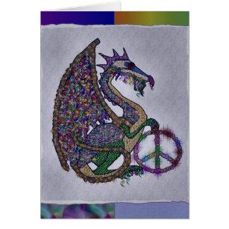 Cartes Dragon orné de bijoux de paix
