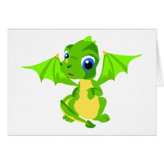 Cartes Dragon timide de bébé