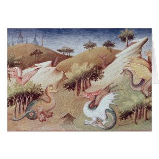 Cartes Dragons de Mme Fr 2810 f.55v et d'autres bêtes