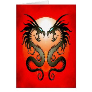 Cartes Dragons tribaux jumeaux