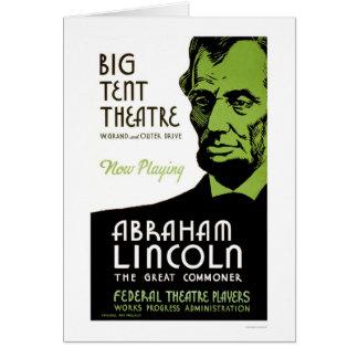 Cartes Drame d'Abraham Lincoln WPA 1936