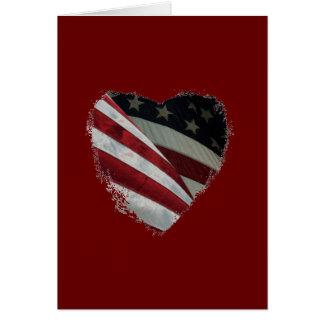 Cartes Drapeau américain de coeur