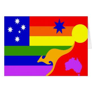 Cartes Drapeau australien de gay pride