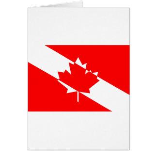 Cartes Drapeau canadien de plongeur autonome