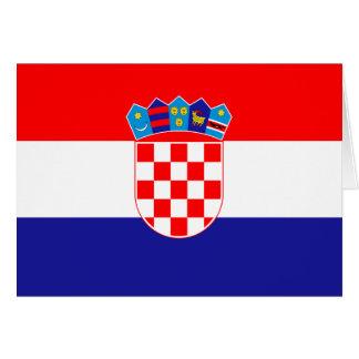Cartes Drapeau croate patriotique