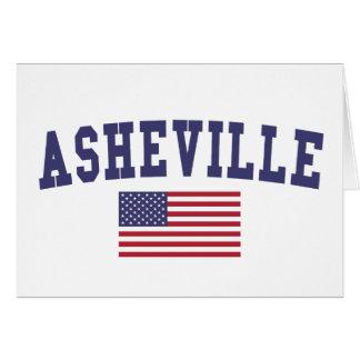 Cartes Drapeau d'Asheville USA