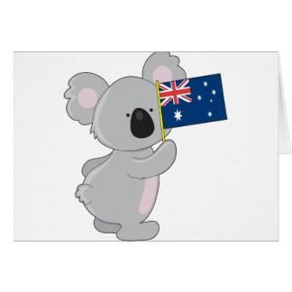 Cartes Drapeau d'Australien de koala